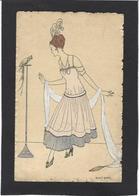 CPA Art Déco Femme Girl Woman Illustrateur Magy Monier Perroquet - Women