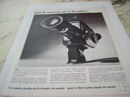 ANCIENNE  PUBLICITE QUOI DE NOUVEAU SUR LA BEAULIEU   1968 - Autres
