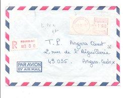 NOUVELLE CALEDONIE LETTRE AFFRANCHIE PAR VIGNETTE DE DISTRIBUTEUR 1982 - Briefe U. Dokumente