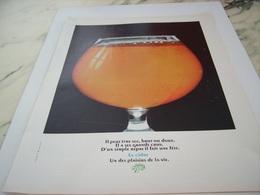 ANCIENNE PUBLICITE PLAISIR DE LA VIE CIDRE  1968 - Alcools