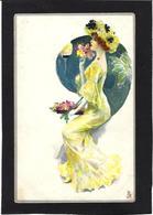 CPA Art Nouveau Femme Girl Woman Non Circulé - Women