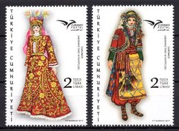 2019 TURKEY EUROMED MEDITERRANEAN COSTUMES MNH ** - 1921-... Repubblica