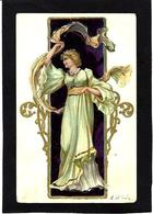 CPA Art Nouveau Femme Girl Woman Circulé - Women