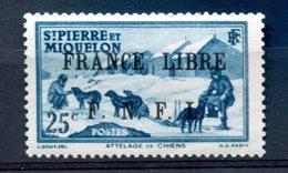 SPM - Surcharge France Libre F.N.F.L. - Neuf Xxx Et Signé - Yvert 253 - T 895 - St.Pierre Et Miquelon