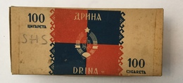 EMPTY  TOBACCO  BOX    DRINA   100 CIGARETTES   FNRJ  YUGOSLAVIA - Schnupftabakdosen (leer)