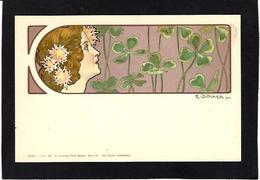 CPA Art Nouveau Femme Girl Women Non Circulé Signé Döcker - Women