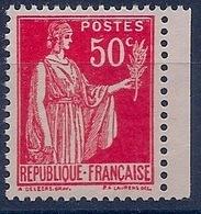 FRANCE - 283S  50C PAIX VARIETE FAUX DE BARCELONE NEUF** MNH COTE 25 EUR - Variétés: 1921-30 Neufs