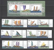 U863 COOK ISLANDS SAILING SHIPS OF PACIFIC !!! MICHEL 39 EURO 1BL+1SET MNH - Barcos