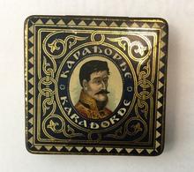 EMPTY  TOBACCO  BOX    TIN  KARAĐORĐE   KARADORDE   SERBIA   SRBIJA - Contenitori Di Tabacco (vuoti)