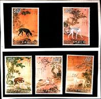 6774B) FORMOSA-QUADRI DI LEVRIERI-DIVERSI-N.790/94-MNH** - 1945-... Repubblica Di Cina