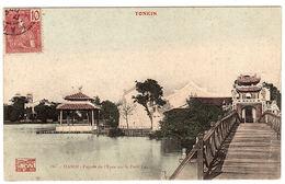 VIET NAM - TONKIN - HANOI - Pagode De L' Epée Sur Le Petit Lac - PAGODA - Carte Colorisée - Viêt-Nam