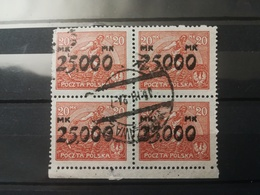 FRANCOBOLLI STAMPS POLONIA POLAND 1923 USED SERIE QUARTINA INFLATION INFLAZIONE OVERPRINTS SOVRASTAMPATI POLSKA - 1919-1939 Repubblica