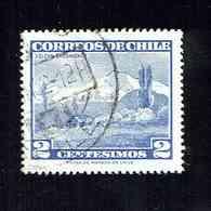 CHILI.(Y&T)   1961-62 - N°291   * Volcan Choshuenco.*   2c.  Obl. - Chili