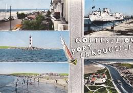 PORT LA NOUVELLE - AUDE - (11) -  CPSM MULTIVUES DENTELÉE. - Port La Nouvelle