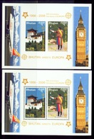 EUROPA-2006-BHUTAN GREETS EUROPA-MS-IMPERF & PERF-WITH SEPARATE STAMPS TOO-HIGH FACE VALUE-SCARCE-MNH-BMS-1A - 2006