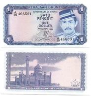 Brunei - 1 Ringgit 1984 UNC P. 6b Lemberg-Zp - Brunei