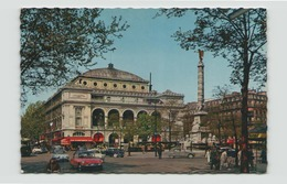 PARIS LA PLACE DU CHATELET AVEC SA FONTAINE ET LE THEATRE 75 - Plazas