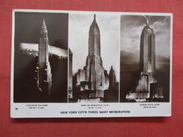 RPPC  NY City  Three Giant Skyscrapers   New York > New York City    Ref    3562 - Manhattan