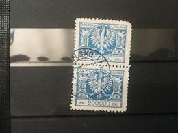 FRANCOBOLLI STAMPS POLONIA POLAND 1924 USED SERIE ACQUILA SU SCUDO BAROCCO POLSKA - 1919-1939 Repubblica
