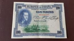 BILLET ESPAGNE. 100 PESETAS Juin 1925. N° B6 044.208 - [ 1] …-1931 : Regno