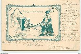 ORENS - La Montagne Accouchant D'un Lapin - Commande De Cartes D'Orens à Son Imprimeur M Roche - Cartophile Club - Orens