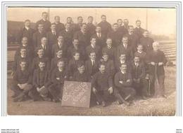 CHERBOURG Homet 7 Jan 1920  (Groupe De Cheminots Cachet Photographe E. Bavet Au Dos) - Cherbourg