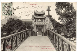 VIET NAM - TONKIN - HANOI - Pont De La Pagode Du Pinceau - PAGODA  - Ed. M. Passignat, Hanoi - Viêt-Nam
