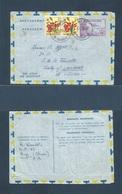BELGIAN CONGO. 1956 (15 Oct) Nizi - Switzerland, Lansanne. 4f Air Letter Sheet Stationary  + 2 Adtls. VF. Comercial Prop - Belgisch-Kongo