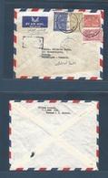SAUDI ARABIA. 1960 (21 Aug) Dammam - Denmark, Naern (27 Aug). Air Multifkd Env, Cachet + Fine Cds With Arrival. Fine. - Saudi-Arabien