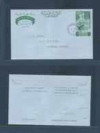 U.A.E.. 1966 (12 Aug) Sharjah. GPO - Salmiyay, KUWAIT. Ovptd Provisional Ovptd 20 NF Stationary Airlettersheet. Fine + S - Ver. Arab. Emirate