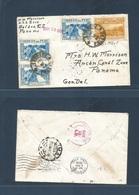 PERU. 1938 (16 May) Callao - Canal Zone, Panama (18 May) Via Lime Airmail Fkd Env. Nice Item. - Peru