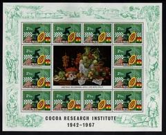 CACAO - COCOA - CHOCOLAT - CHOCOLATE / 1968 GHANA # 311 ** EN FEUILLET DE 12 TIMBRES (ref GF78) - Food