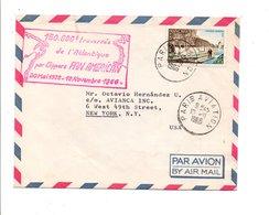 150.000 EME TRAVERSEE DE L'ATLANTIQUE PAR PAN AMERICAN 1966 - Marcophilie (Lettres)