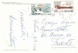 £10+£25 GIOCHI OLIMPICI CORTINA 1956 CON ANN.TARGHETTA CART.STADIO OLIMPICO DEL GHIACCIO - 6. 1946-.. Repubblica