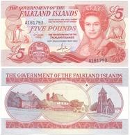 Falkland Islands - 5 Pounds 1983 AUNC Lemberg-Zp - Falklandeilanden
