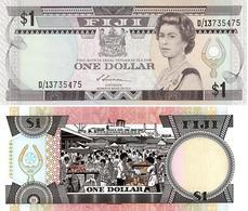 Fiji - 1 Dollar 1987 UNC Lemberg-Zp - Fiji