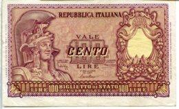 B 5- 100 LIRE ITALIA ELMATA 31/12/51 BOLAFFI CAVALLARO GIOVINCO - SPL - [ 2] 1946-… : Repubblica