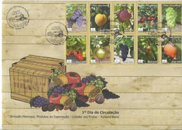 BRAZIL BRASIL 2009 EXPORT FRUITS GRAVES FIRST DAY COVER FDC SPD COMPLETE SET ON  SPECIAL FDC - Brasil