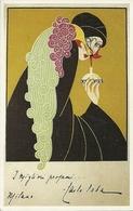 Donna Con Pavone, Riproduzione Da Orig., Reproduction, Illustrazione, S. Tofano Illustratore (F01) - Donne