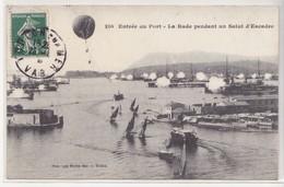 CPA Toulon - Entrée Du Port - La Rade Pendant Un Salut D'escadre - Toulon