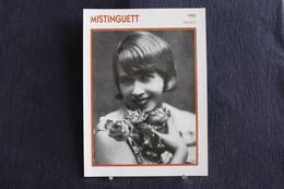 Sp-Actrice,chanteuse,française.Bourgeois,dite,1925-Mistinguett,née à Enghien-les-Bains En 1875,morte à Bougival En 1956 - Acteurs
