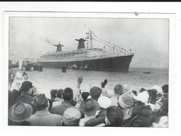 Départ Paquebot France Le Havre 19 11 1961 Coll Chantiers Atlantique écomusée Saint Nazaire Neuve TBE Traces Colle  Dos - Piroscafi