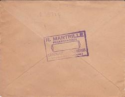 LETTRE---66--LAROQUE DES ALBERES--1948----R. MARTRILLE  Pharmacien--voir 2 Scans - Marcophilie (Lettres)