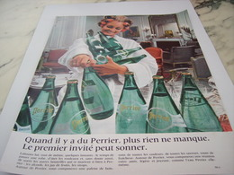 ANCIENNE PUBLICITE RIEN NE MANQUE PERRIER  1968 - Perrier