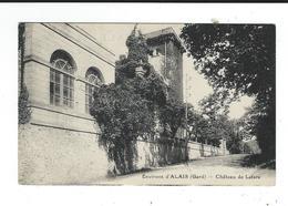 30  Cendras  Environs D'Alais (ales) Gard Chateau De La Fare écrite TBE - Alès