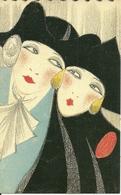 Maschere Di Carnevale (Veneziane??), Riproduzione Da Orig., Reproduction, Illustrazione, (F05) - Fantasia