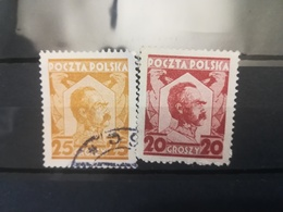 FRANCOBOLLI STAMPS POLONIA POLAND 1927 - 1928 USED JOZEF PILSUDSKI POLSKA - 1919-1939 Repubblica