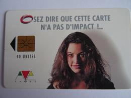 Télécarte MAROC Osez Dire Que Cette Carte N'a Pas D'impact!.. 40 Unités, AVE Phone, Used, TBE Voir Scan - Maroc