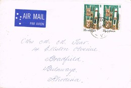 33673. Carta Aerea TOORADIN (Victoria) Australia 1974 To Rhodesia - 1966-79 Elizabeth II