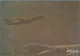 Avion / Airplane / AIR FRANCE / Boeing B 747 / Photo J.M. Chourgnoz / Size : 12X17cm - 1946-....: Ere Moderne